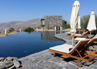 Oman zwembad Hajar gebergte