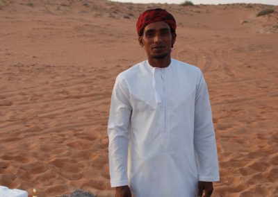 Alleen in de Wahiba sands private camp